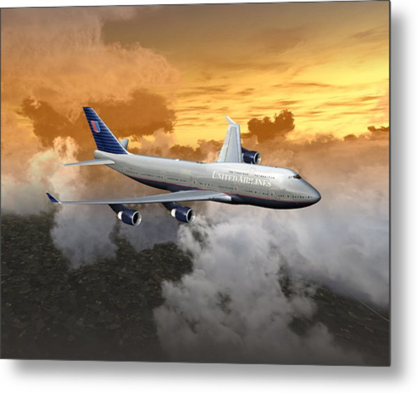 747-400 20x16 04 Metal Print