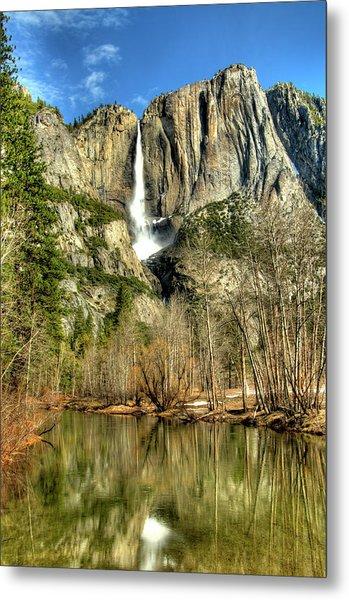 Yosemite Falls Metal Print by Marc Bittan