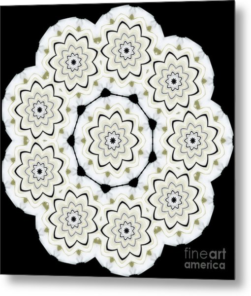 9-pointed Orchid Star Metal Print