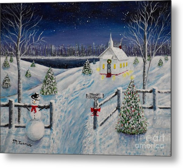 A Christmas Eve Metal Print