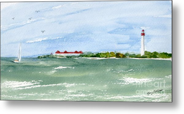 A Clear Day At Cape May Point  Metal Print