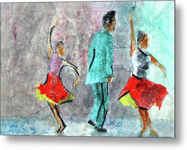 A Dance For Three Metal Print by Donna Crosby
