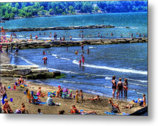 A Day At The Beach Metal Print by Neil Doren