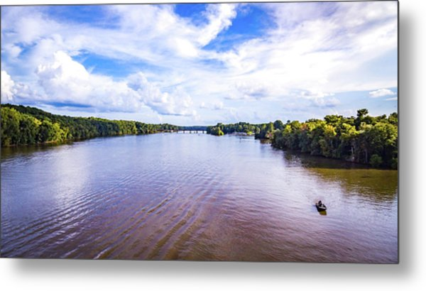 A Day On The River Metal Print