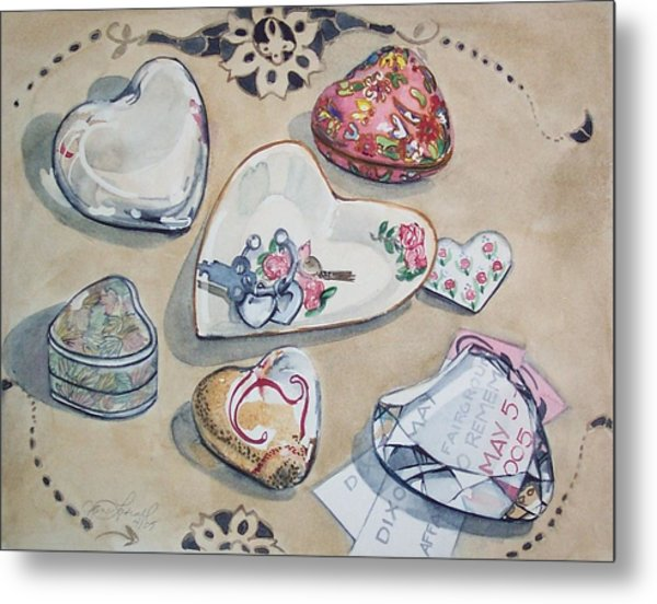 A Fair Of Hearts Metal Print by Jane Loveall