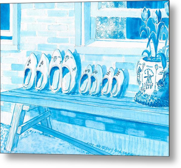 A Family Of Wooden Shoes  Metal Print