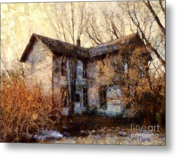A Haunting Melody - Old Farmhouse Metal Print