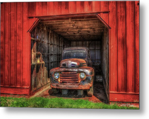 A Hiding Place 1949 Ford Pickup Truck Metal Print