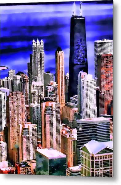 A Look At Chicago Metal Print by Kathy Tarochione
