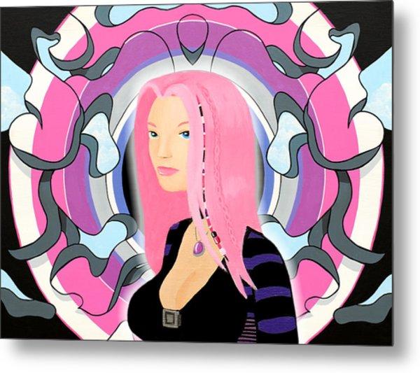 A Priori Cyberpunk Girl Derivative Metal Print by Thomas Albany