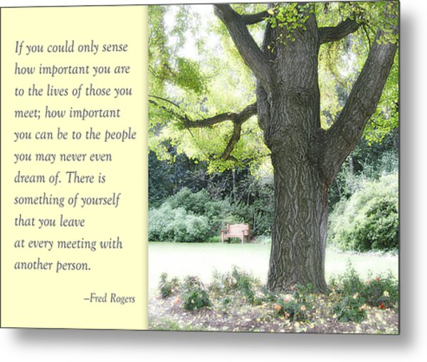 A Quote To Remember Metal Print