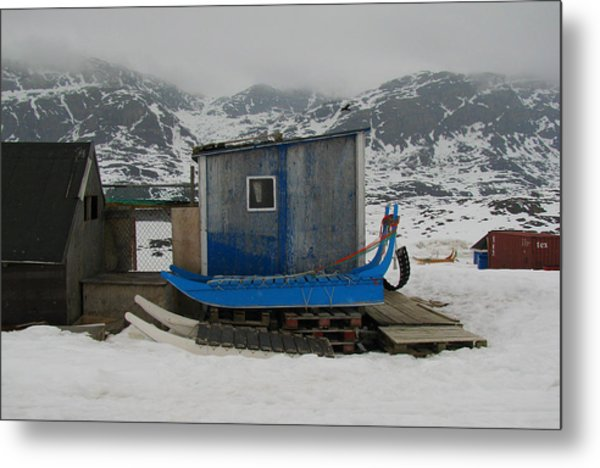 A Sledge Dog House Three Metal Print by Sidsel Genee