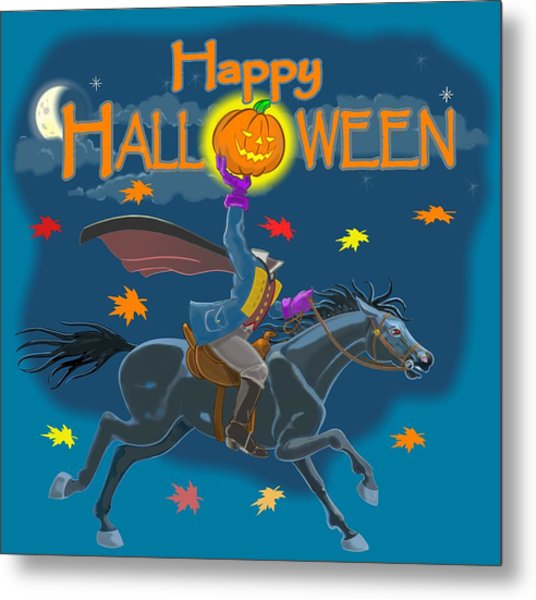 A Sleepy Hollow Halloween Metal Print
