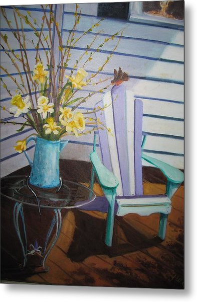A Surpise Visitor Metal Print by Gloria Condon