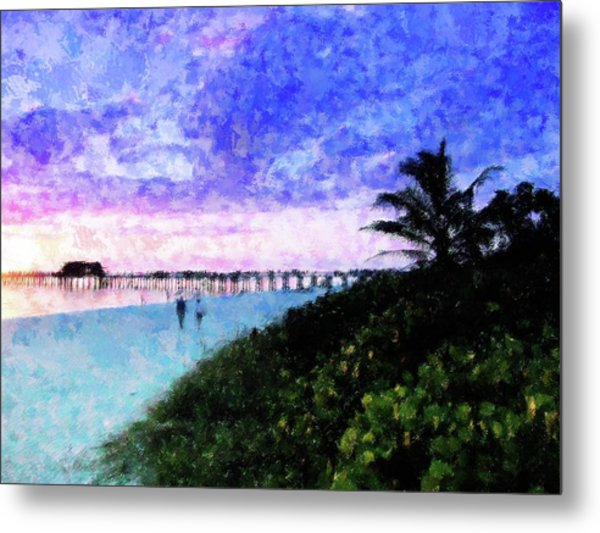 A View At Naples Pier Metal Print