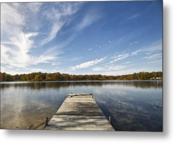 A View From The Dock Metal Print