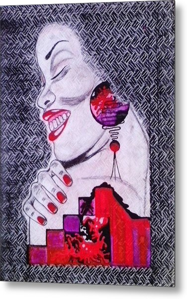 A Womans World Metal Print by Eziagulu Chukwunonso Innocent