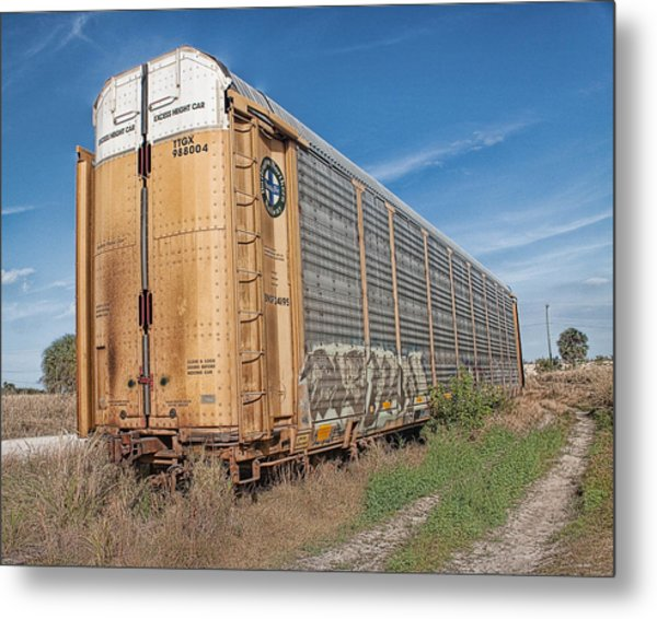 Abandoned Metal Print by Debbie Herb