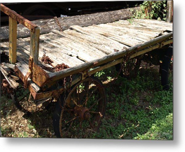 Abandoned Wagon Metal Print by Dennis Stein