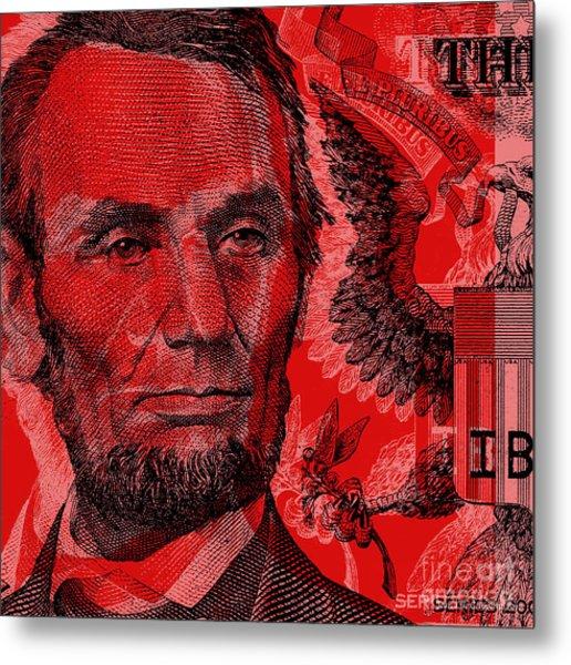 Abraham Lincoln Pop Art Metal Print