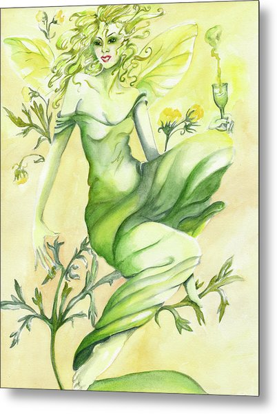 Absinthe-the Green Fairy Metal Print