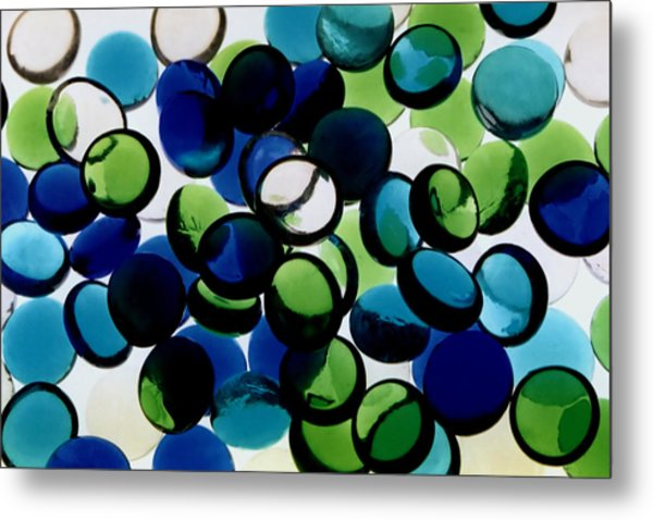 Abstract Blue Green II Metal Print