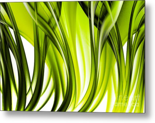 Abstract Green Grass Look Metal Print