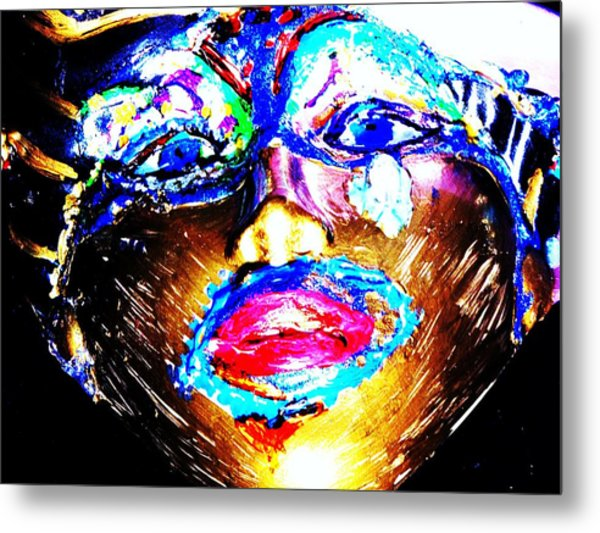 Abstract Of Faces Metal Print by HollyWood Creation By linda zanini