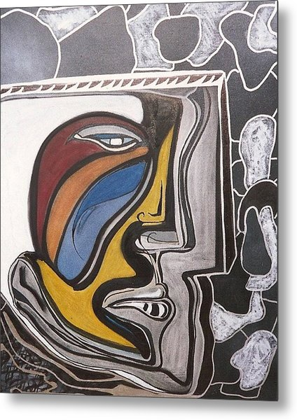 Abstract Self Portrait 1988 Metal Print by Jimmy King