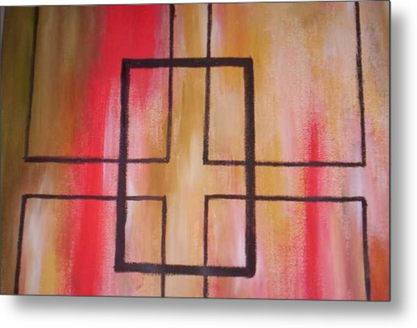 Abstract Squares Metal Print by Becca Haney