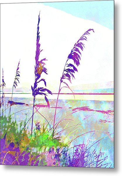 Abstract Watercolor - Morning Sea Oats I Metal Print