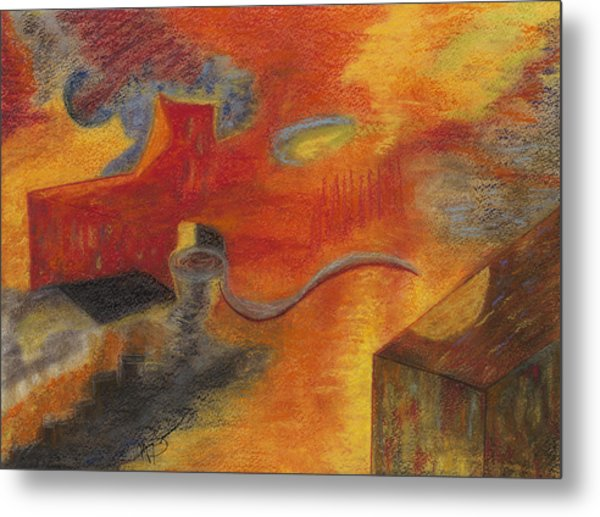 Abstraction Attractions Metal Print