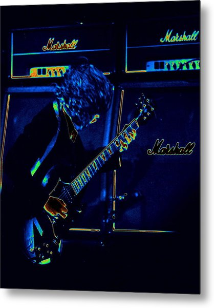 Ac Dc Electrifies The Blues Metal Print