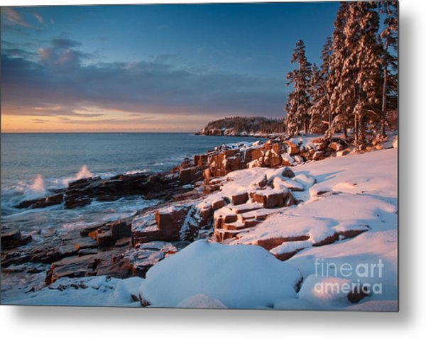 Acadian Winter Metal Print