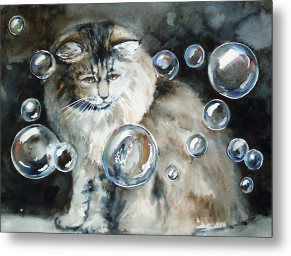 Adelaide And Bubbles Metal Print