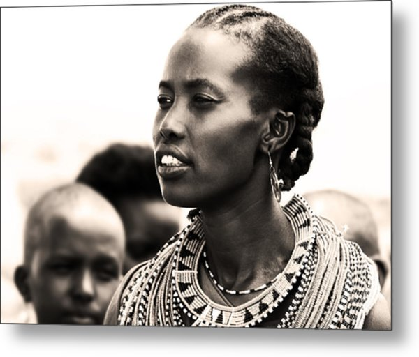 African Woman Metal Print