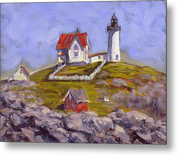 Afternoon At Nubble Light Metal Print