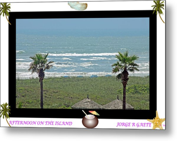 Afternoon On The Island A Poster Metal Print by Jorge Gaete