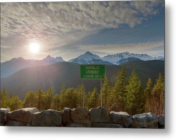 Afternoon Sun Over Tantalus Range From Lookout Metal Print