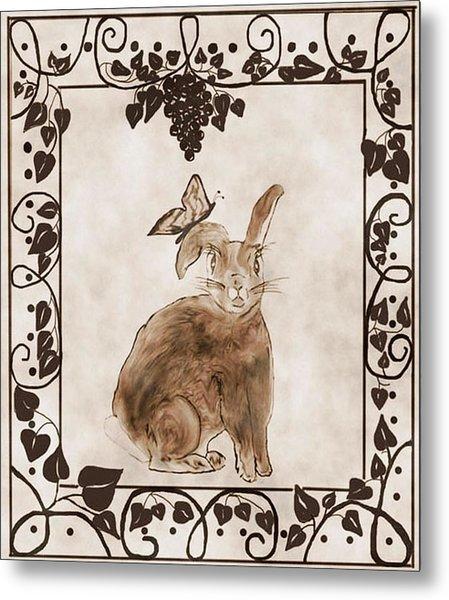 Aged Bunny Metal Print