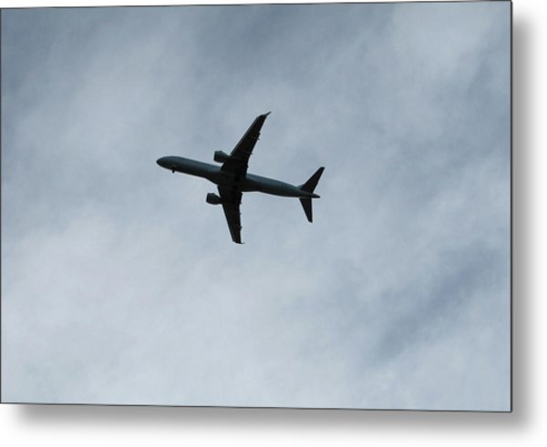 Airplane Silhouette Metal Print