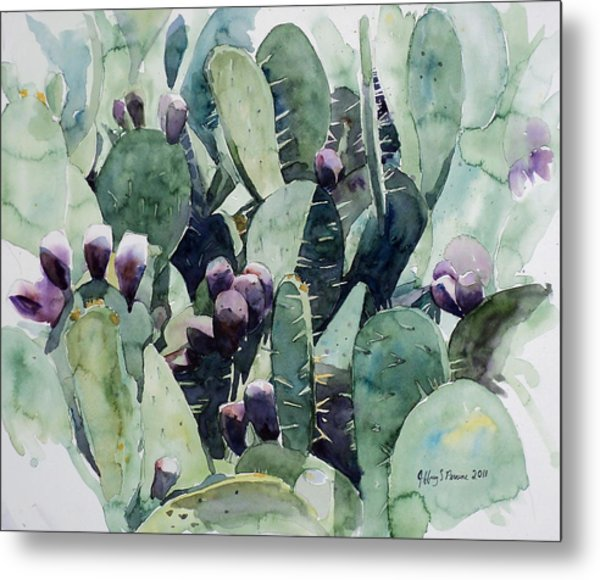 Alamo Prickly Pear Metal Print