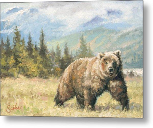 Alaskan Brownie Metal Print by Larry Seiler