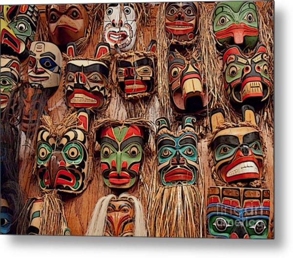 Alaskan Masks Metal Print