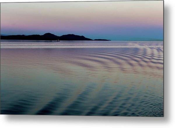 Alaskan Sunset At Sea Metal Print