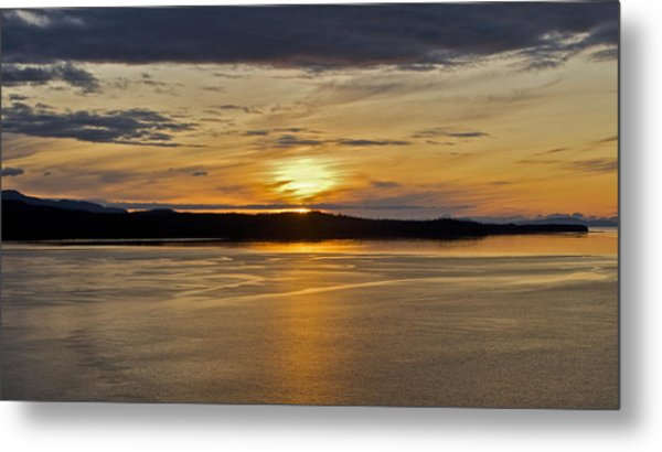 Alaskan Sunset Metal Print by Robert Joseph