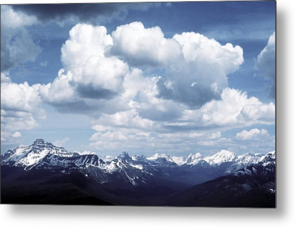 Alberta Mountain Panorama Metal Print