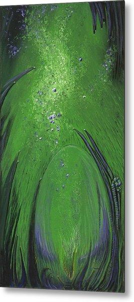 Alien Egg In The Ocean Metal Print