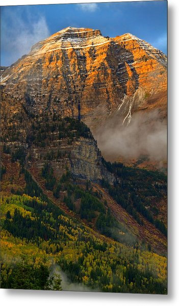 Alpenglow On Mt. Timpanogos Metal Print
