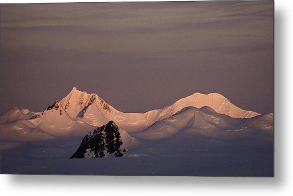 Alpine Glow - Antarctica Metal Print